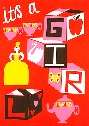 Its a Girl Greetings Card