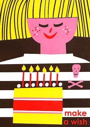 Make a Wish - Boy Greetings Card
