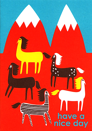Horses Greetings Card