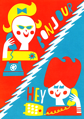 Girl Talk Greetings Card