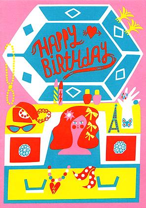 Girls World Greetings Card