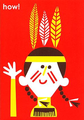 Native Girl Greetings Card