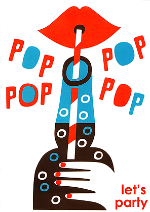 Pop Party Greetings Card