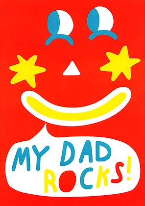 My Dad Rocks! Greetings Card