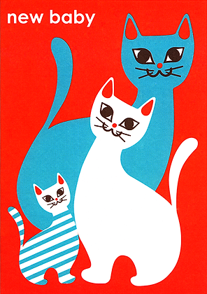Baby Cat Greetings Card