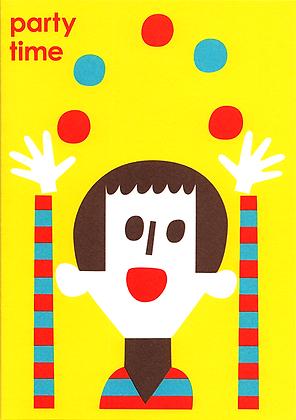 Juggler Greetings Card