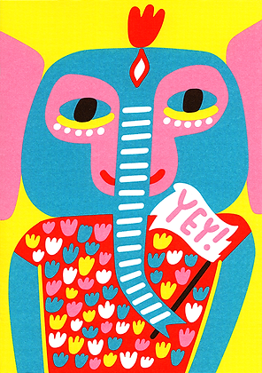 Party Elephant Greetings Card