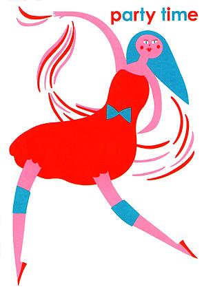 Gogo Girl Greetings Card