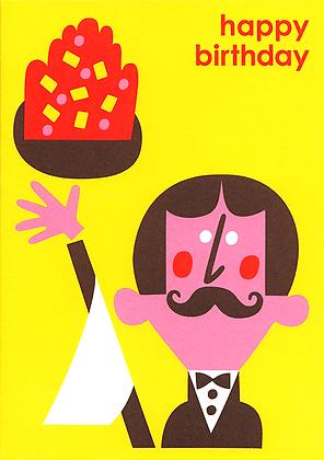Waiter Greetings Card