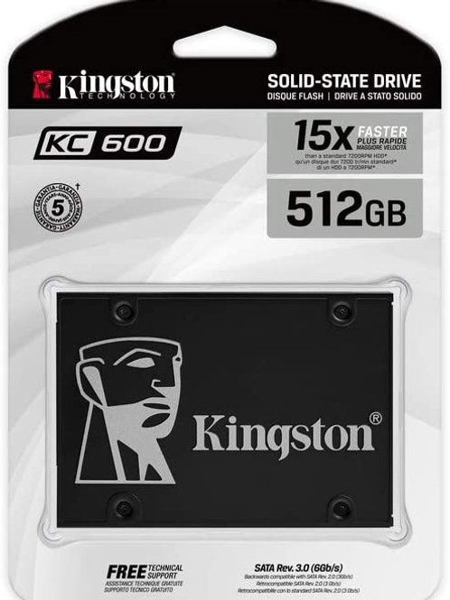 512 gb Kingston KC600 - Unidad en estado sólido - cifrado