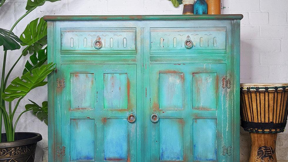 Rusted Rubi - Sideboard - Hand Painted - Rustic - Vintage - Living Room - Decor
