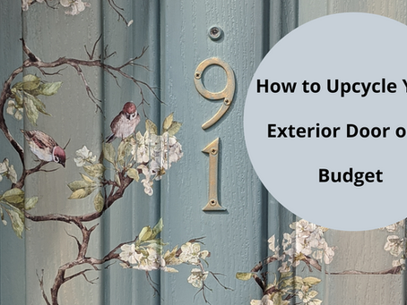How to Upcycle an Exterior Door on a Budget