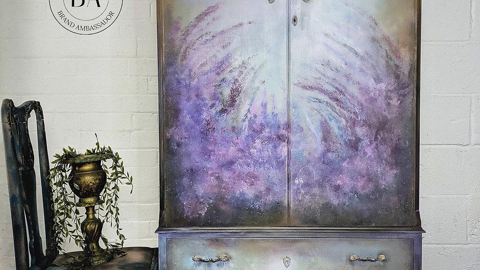 Lavender Lane - Hand Painted - Armoire - Wardrobe - Bedroom - Hallway