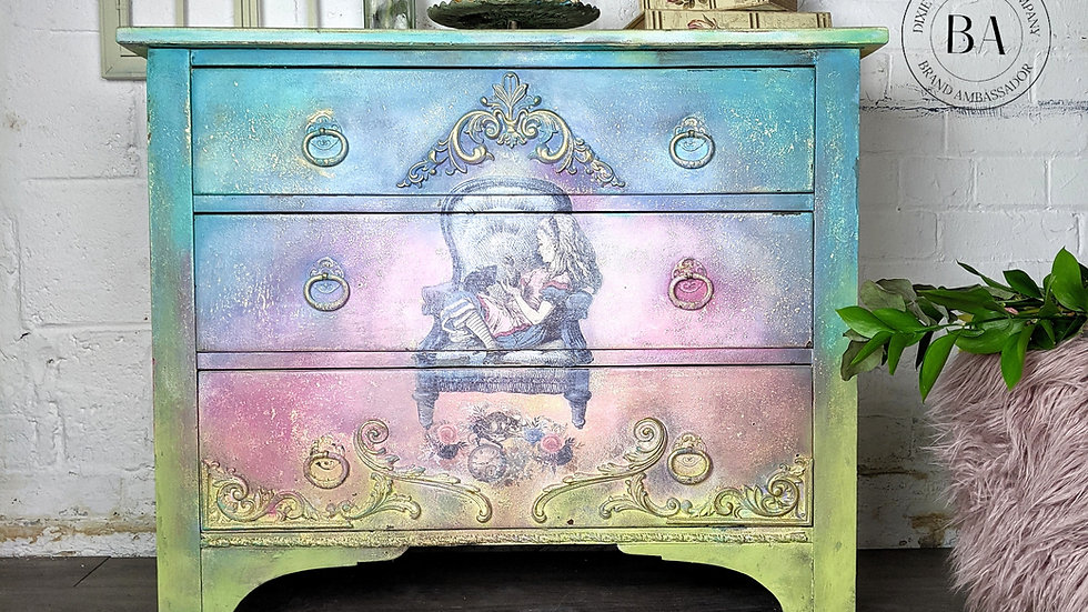 Alice - Drawers - Chest of Drawers - Hand Painted - Bedroom Furniture - Upcycled