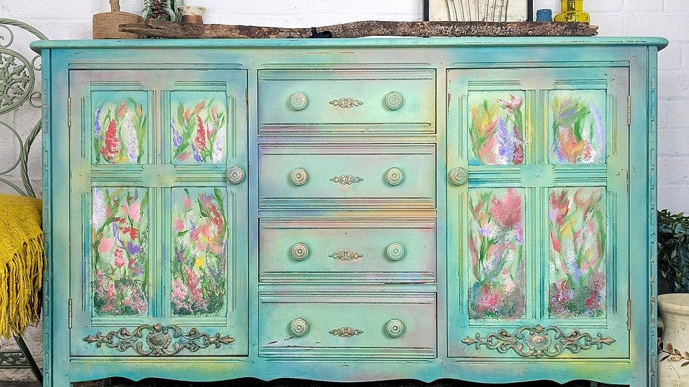 Spring Morning - Sideboard - Hand Painted - Living Room - Bedroom - Bohemian