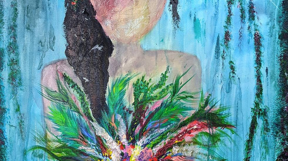 Eden - Large Canvas - Abstract Art - Original Painting - Fine Art - Femininity