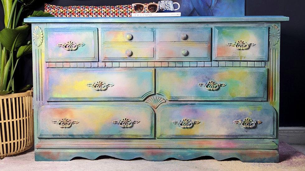 Iris Sideboard - Hand Painted - Sideboard - Living Room - Hallway - Vintage