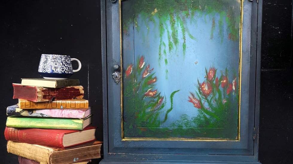 Cupboard - Cabinet - Abstract Art - Living Room - Hallway - Hand Painted