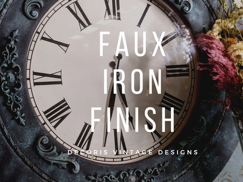 Easy Faux Iron Clock Finish with Chalk Mineral Paint