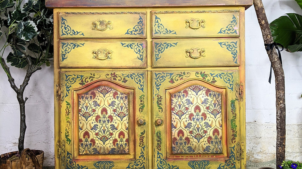 Sorrento Drawers - Hand Painted - Folk Art - Living Room - Chest of Drawers