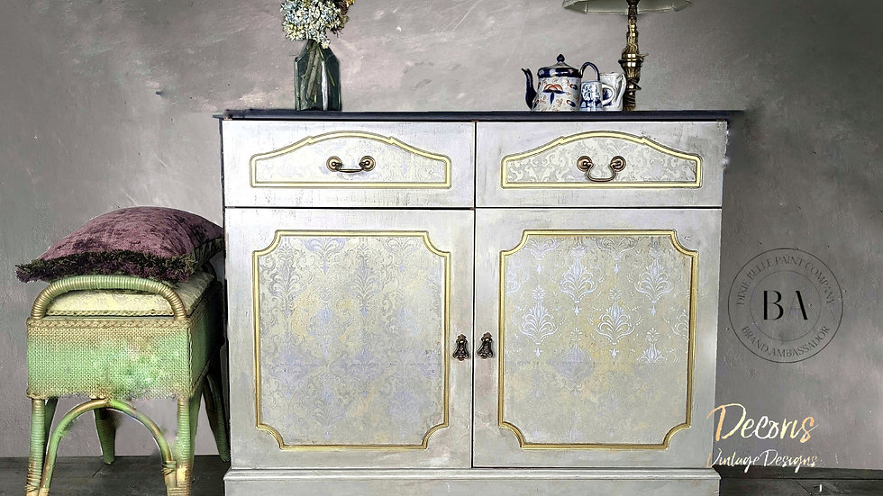 Duchess - Sideboard - Cabinet - Hand Painted - Damask - Bedroom - Living Room