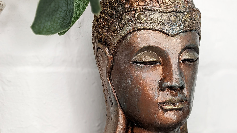 Buddha - Bust - Ornament - Hand Painted - Home Decor - Rustic - Bespoke