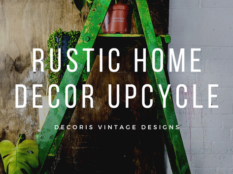 Upcycle Old Ladders into Rustic Home Decor