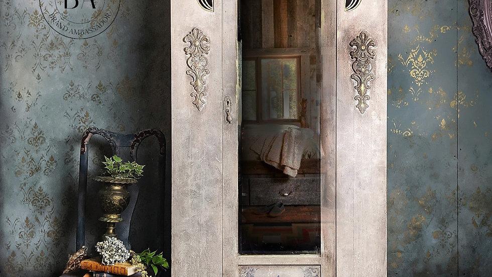 Olive - Armoire - Wardrobe - Hand Painted - Edwardian - Bedroom - Vintage