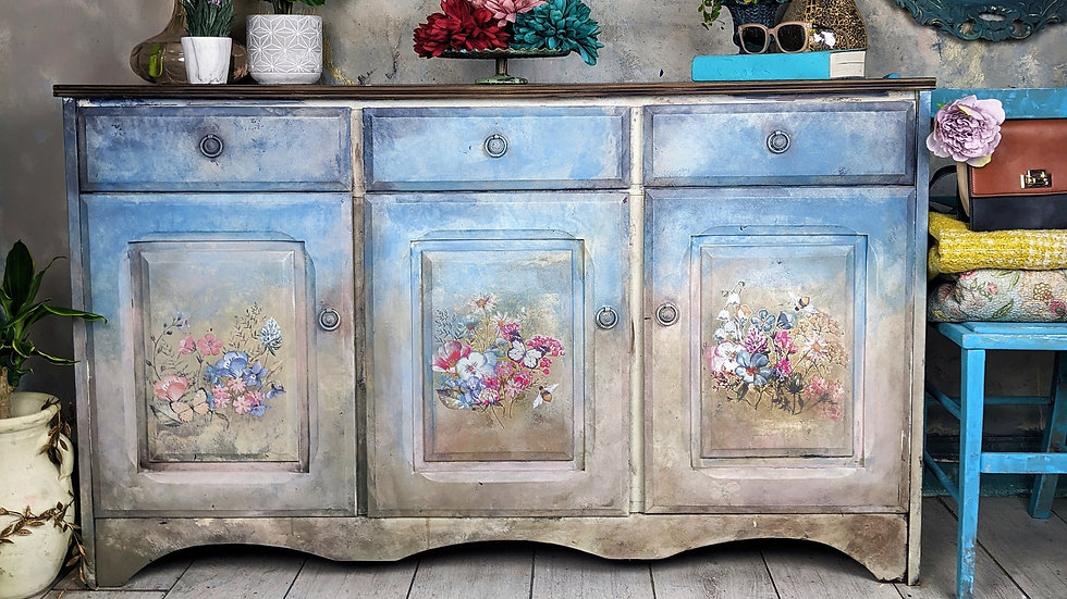 Dolores -Sideboard - Hand Painted - Living Room -Floral