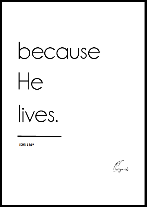 Because He Lives - Poster