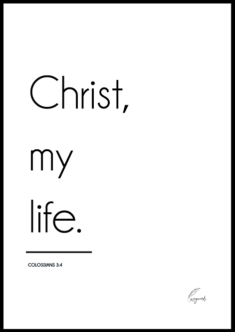 Christ My Life - Poster