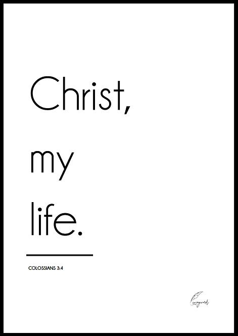 Christ My Life - Poster