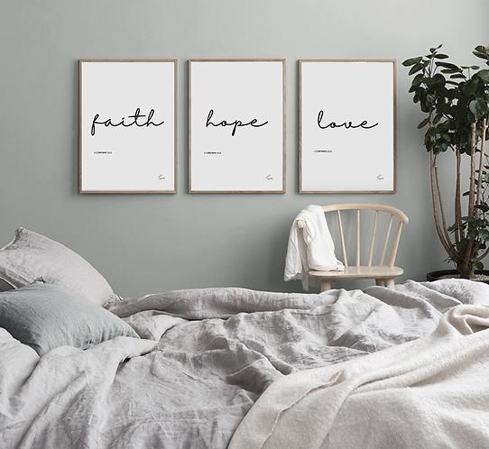 Faith, Hope, Love - Poster (trio)