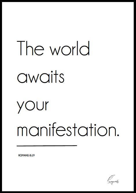 Manifestation Poster