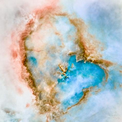 Heart color starless PI LRGB B&W starles