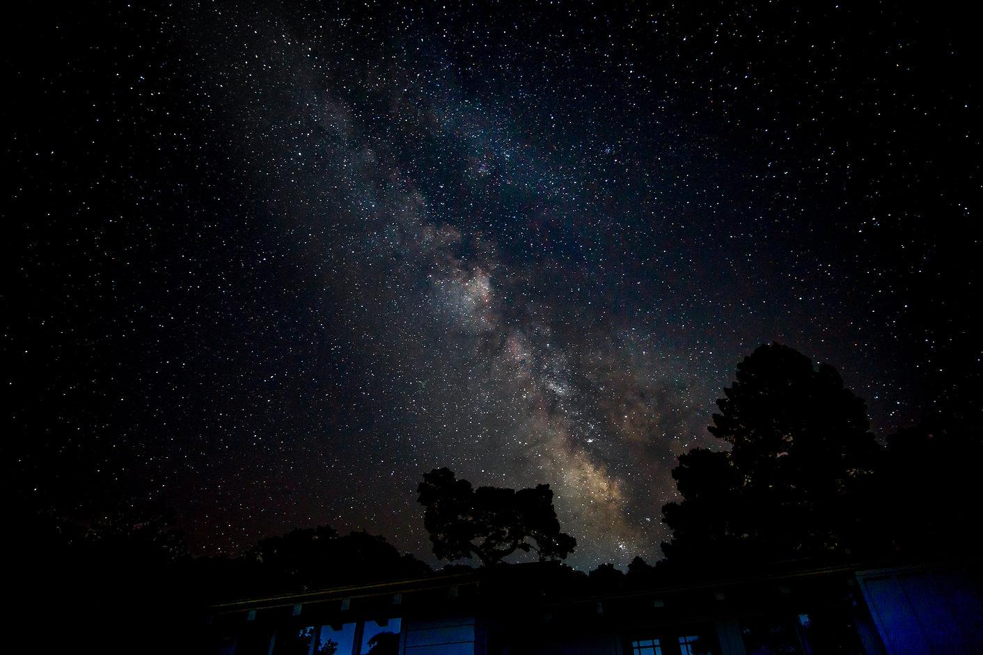 Milky Way galaxy in the summer sky