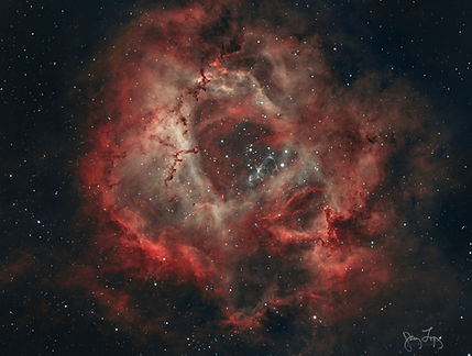 NGC2244 HOO_nonlinear LRGBCombine Ha2.5d