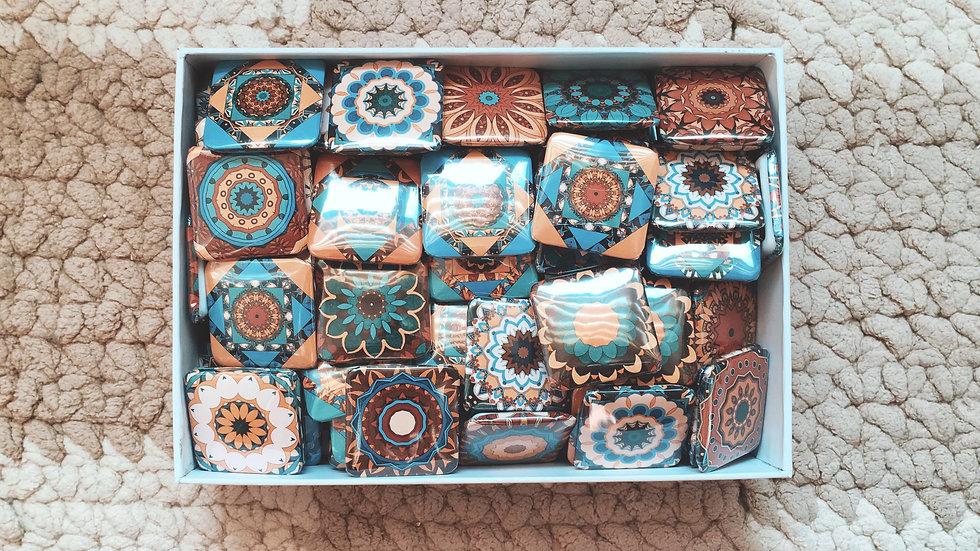 Square Badge-Kaleidoscope pattern