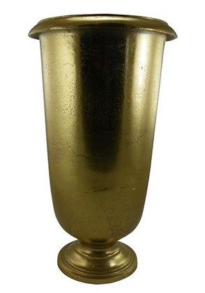 Gouden bloempot van 50cm hoog