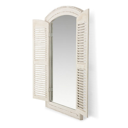 Spiegel met luikjes