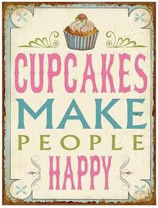 Tekstbord 'Cupcakes ...'