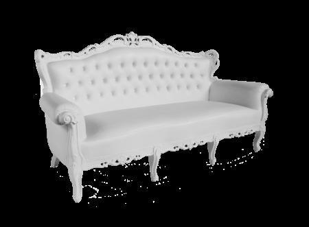 Royaal zitbank in wit voor 3 personen