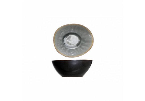 Bowl ovaal blauw/grijs