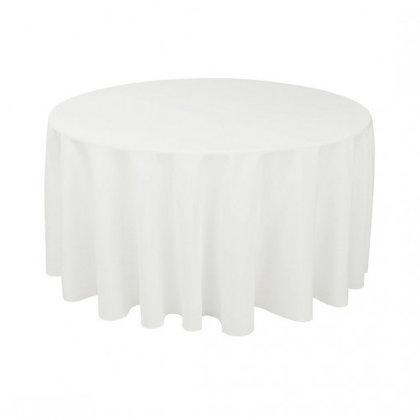 Wit tafellinnen voor ronde tafels huren