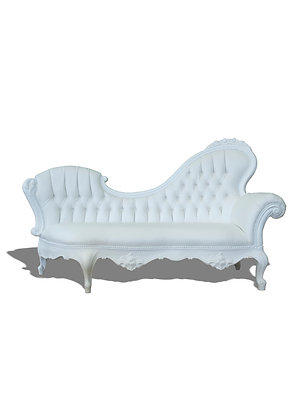 elegante sofa in het wit voor 2 personen
