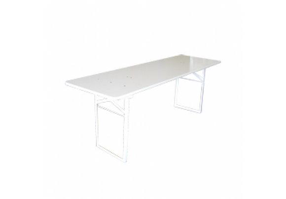 Lange biertafel hout wit
