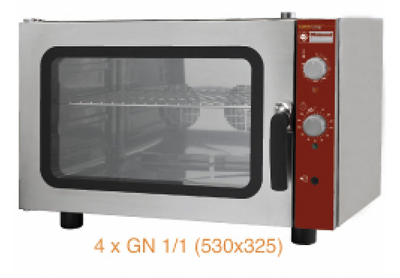 Elektrische oven 230 Volt, 4 x GN 1/1