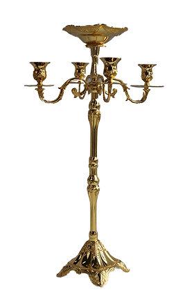 Gouden kandelaar met 5 armen