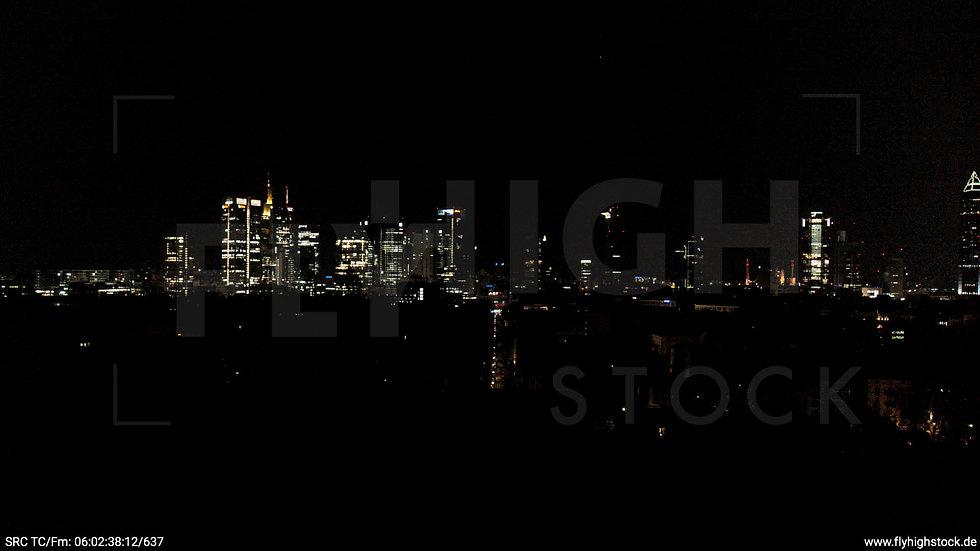 Frankfurt Grüneburgpark Hub Skyline nachts