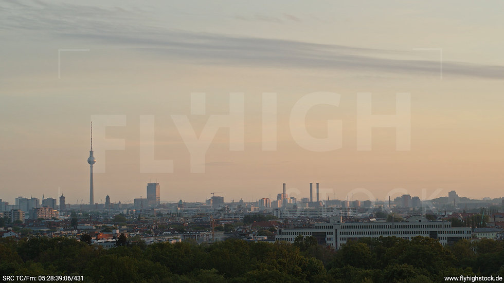 Berlin Hasenheide Skyline Hub morgens 3